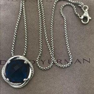 🌼DAVID YURMAN Silver Infinity Necklace Blue Topaz
